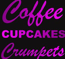 coffee cupcakes and crumpets by Divertions