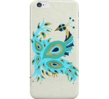 Blue & Gold Peacock iPhone Case/Skin