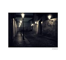 Street Lights and Cobble of Prague by stado