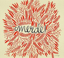 Pardon My French – Red & Cream by Cat Coquillette