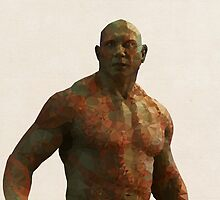 Drax from Guardians of the Galaxy by pop-lygons