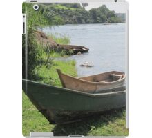 boat on lake iPad Case/Skin