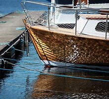 Vintage boat is moored by mrivserg