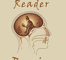 The Reader Brain - Cool Nerd Reader by Mellark90