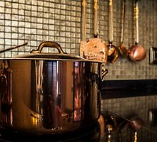 copper Saucepan on the stove by mrivserg