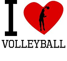 I Heart Volleyball by kwg2200