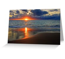 Sunset At Point Peron  Greeting Card