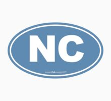 North Carolina NC Euro Oval Carolina Blue by USAswagg2