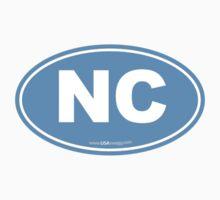 North Carolina NC Euro Oval Carolina Blue by USAswagg2