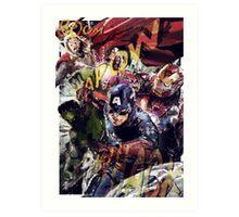 The Avengers Strike Back! Art Print