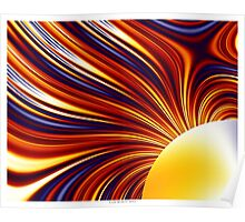 Color & Form Abstract - Solar Gravity and Magnetism 1 Poster
