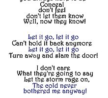 Let It Go-Idina Menzel-Lyrics by GlamourAnnabel