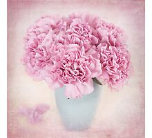 A beautiful bouquet of mauve Carnations Photographic Print
