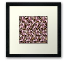 Leopards'n Lace - Pink Framed Print
