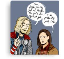 Probably Just Loki  Canvas Print
