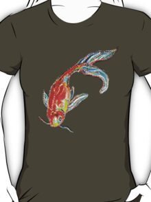 Golden Fish Pixelate T-Shirt