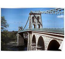 Menai Suspension Bridge Poster