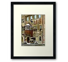 Historic Fountain in Stein am Rhein Framed Print