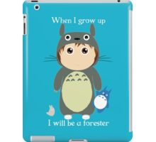 When I grow up, I will be a forester (boy) iPad Case/Skin