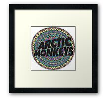 Arctic Monkeys Tribal Print Framed Print