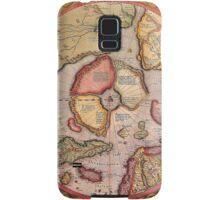 North Pole Map 1595 Samsung Galaxy Case/Skin