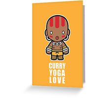 Curry Yoga Love Greeting Card