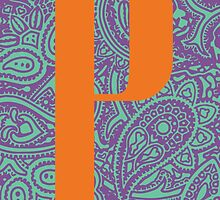 Paisley Print Letter 'P' by haypaige