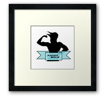 Fight Milk Framed Print