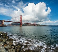 Golden Gate Under a Cloud by James Watkins