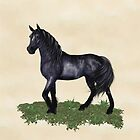A Black Horse Called Star by LoneAngel