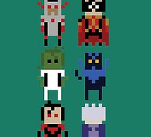 8-Bit Titans by kindigo