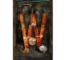 Steampunk - Alphabet - W is for Watches Photographic Print