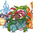 Pokemon Gen I Starters by SansTache