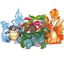 Pokemon Gen I Starters Photographic Print
