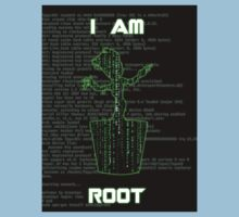 I AM ROOT (Matrix version) Kids Clothes