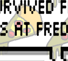 I survived Five Nights at Freddy's Sticker