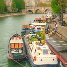 Boats On The Seine by Michael Matthews