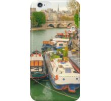 Boats On The Seine iPhone Case/Skin