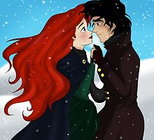 """The Little Mermaiçd - Ariel and Eric """"First winter on land"""" by Marionlalala"""