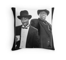 Legends never die TupacBiggie Throw Pillow