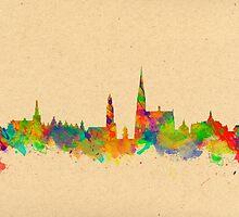 Skyline of Antwerp in Belgium by chris2766