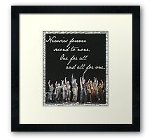 Newsies Forever. Second to none. Framed Print