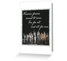 Newsies Forever. Second to none. Greeting Card