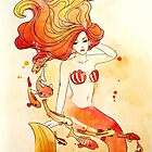 Fiery Mermaid by NeverBird