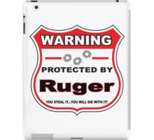 Ruger Protected by Ruger Shield iPad Case/Skin