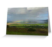 Rainbow over Inch Island Greeting Card