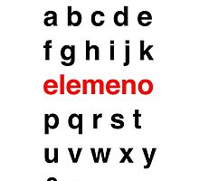 Little Kid Alphabet. by wintersweaters