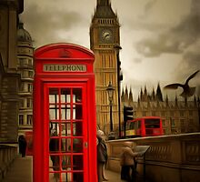 Westminster Phone Box by AndyHuntley