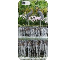Waterfall, Sculpture & Orchids. iPhone Case/Skin