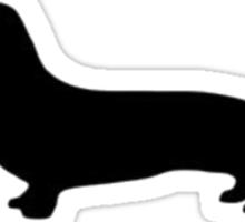 Dachshund Silhouette Sticker